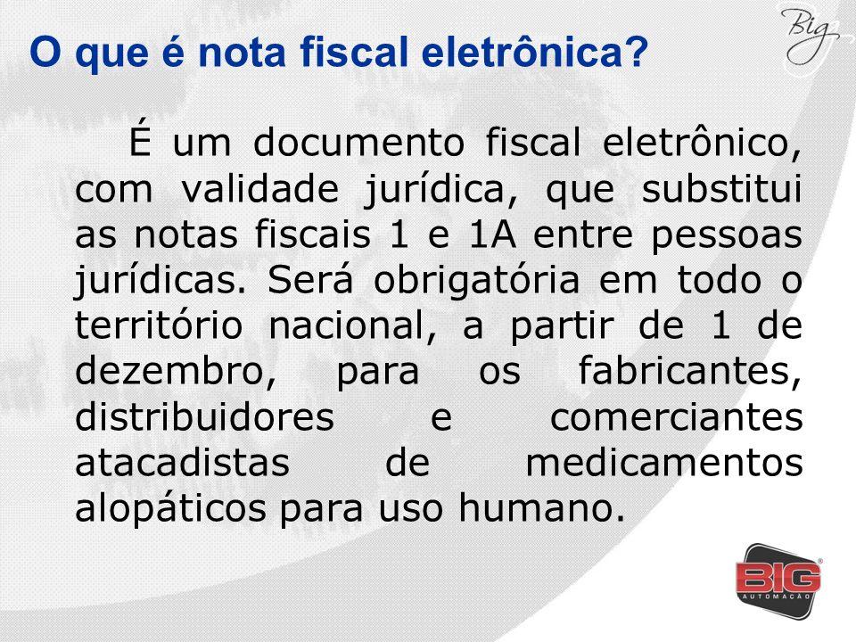 É um documento fiscal eletrônico, com validade jurídica, que substitui as notas fiscais 1 e 1A entre pessoas jurídicas. Será obrigatória em todo o ter
