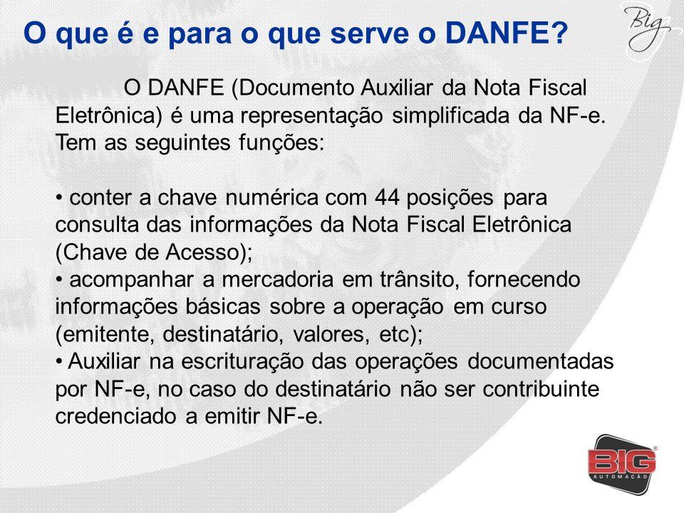 O que é e para o que serve o DANFE? O DANFE (Documento Auxiliar da Nota Fiscal Eletrônica) é uma representação simplificada da NF-e. Tem as seguintes