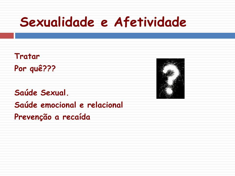 Sexualidade e Afetividade Tratar Por quê??.Saúde Sexual.