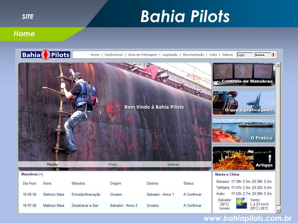 Bahia Pilots www.bahiapilots.com.br Home SITE