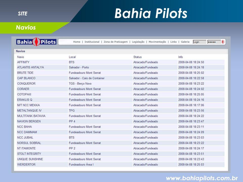 Bahia Pilots www.bahiapilots.com.br SITE Navios