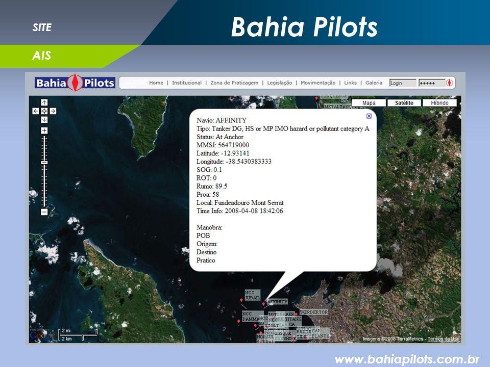 Bahia Pilots www.bahiapilots.com.br SITE AIS