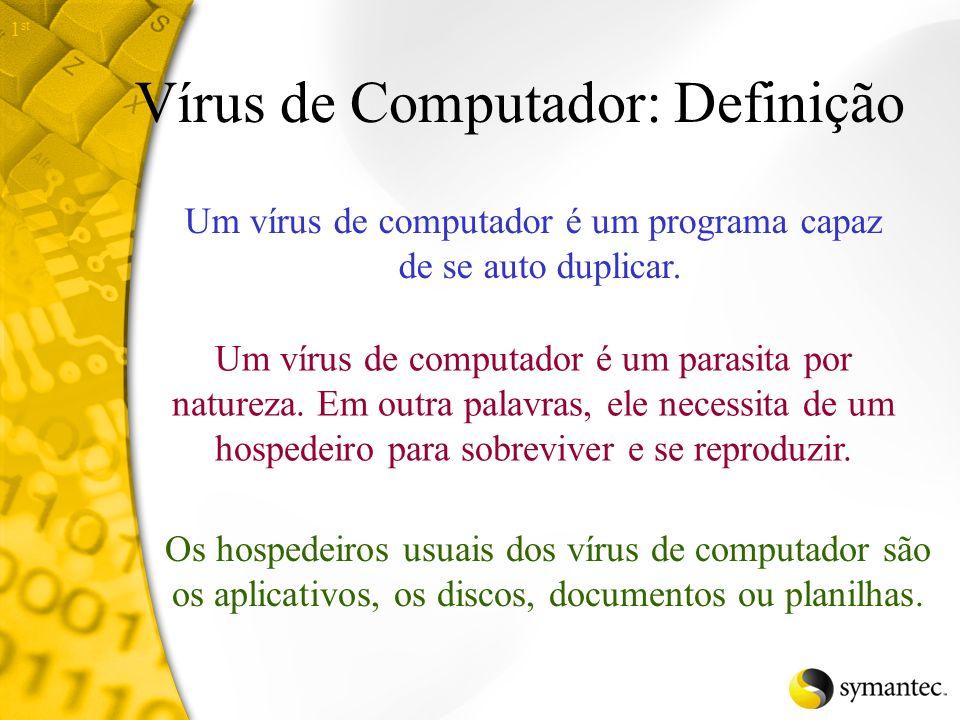 Hoje, nós vamos aprender... Terminologia dos vírus de computador comuns Diferentes tipos de vírus e compreender como eles se espalham Técnicas avançad