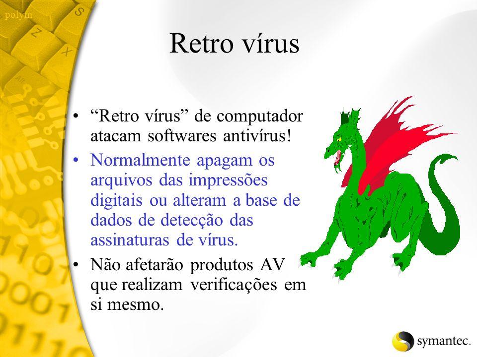 Como funcionam os antivírus? Anti vírus usam impressões digitais ou assinaturas de vírus para identificar vírus Impressões digitais são únicas nos vír