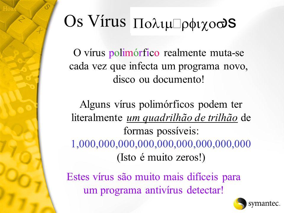 Retro vírus Retro vírus de computador atacam softwares antivírus! Normalmente apagam os arquivos das impressões digitais ou alteram a base de dados de