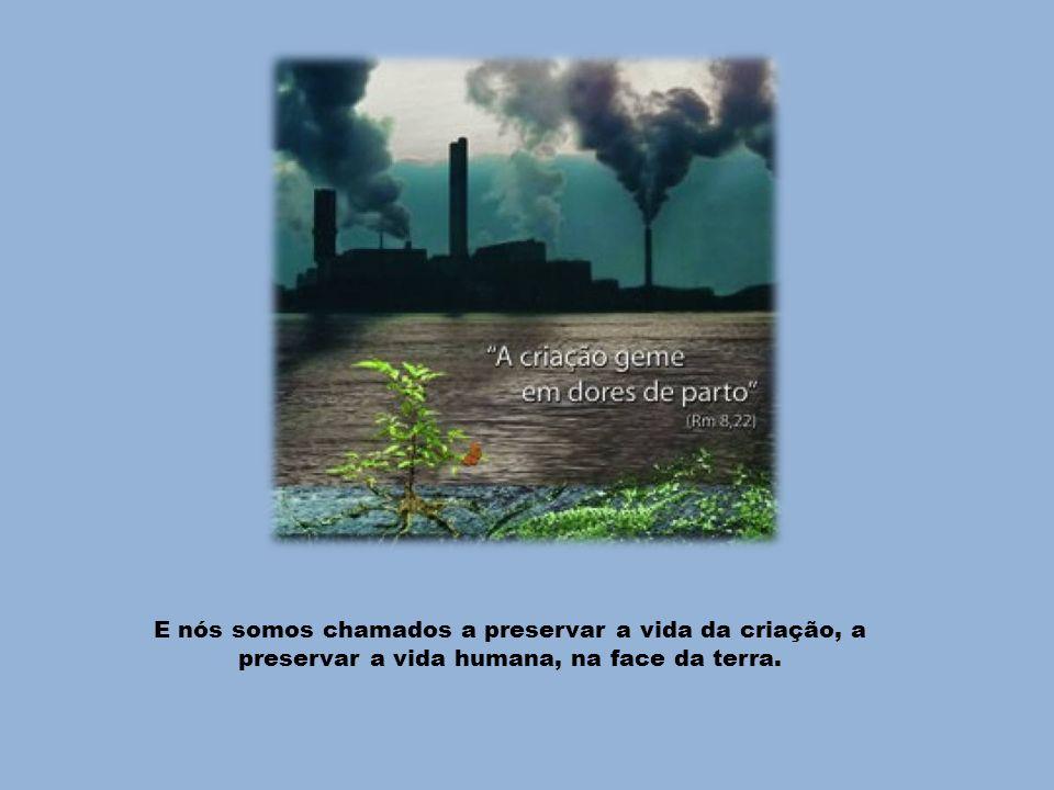 E nós somos chamados a preservar a vida da criação, a preservar a vida humana, na face da terra.