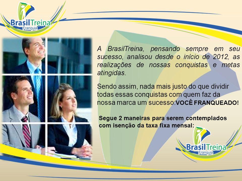 A BrasilTreina, pensando sempre em seu sucesso, analisou desde o início de 2012, as realizações de nossas conquistas e metas atingidas. Sendo assim, n