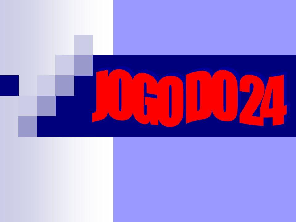Objectivo do Jogo: Chegar ao resultado 24, utilizando os 4 números do cartão (apenas uma vez cada um) e uma ou várias operações (adição, subtracção, multiplicação, divisão).