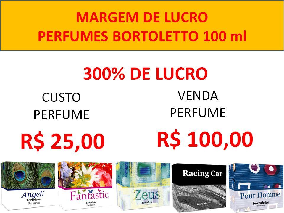 MARGEM DE LUCRO PERFUMES BORTOLETTO 100 ml