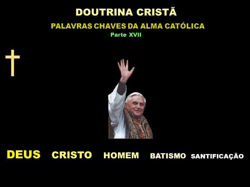 DEUS CRISTO HOMEM BATISMO S ANTIFICAÇÃO DOUTRINA CRISTÃ PALAVRAS CHAVES DA ALMA CATÓLICA Parte XVII