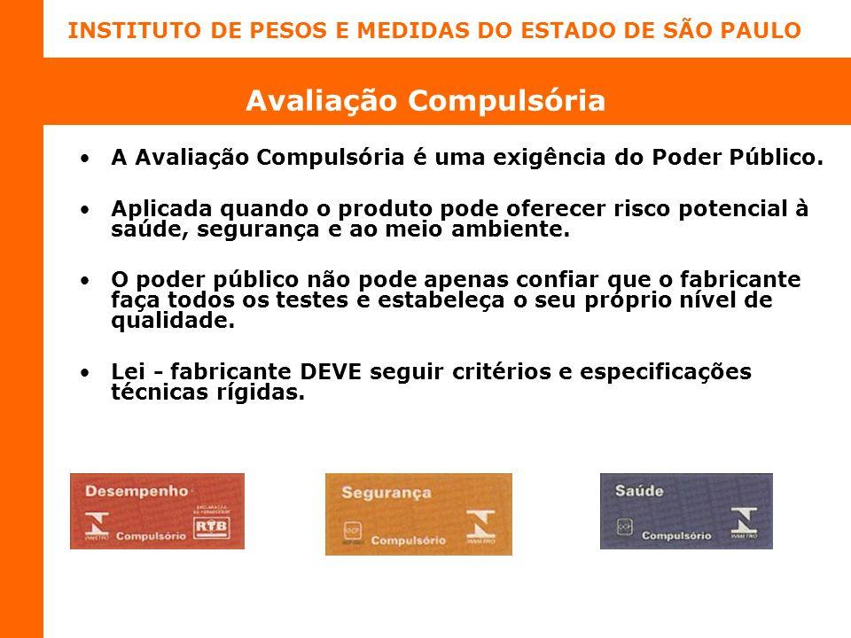 INSTITUTO DE PESOS E MEDIDAS DO ESTADO DE SÃO PAULO Avaliação Compulsória A Avaliação Compulsória é uma exigência do Poder Público.
