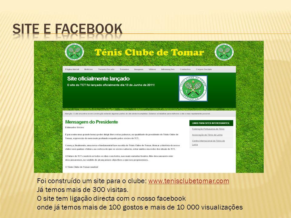 Foi construído um site para o clube: www.tenisclubetomar.comwww.tenisclubetomar.com Já temos mais de 300 visitas.