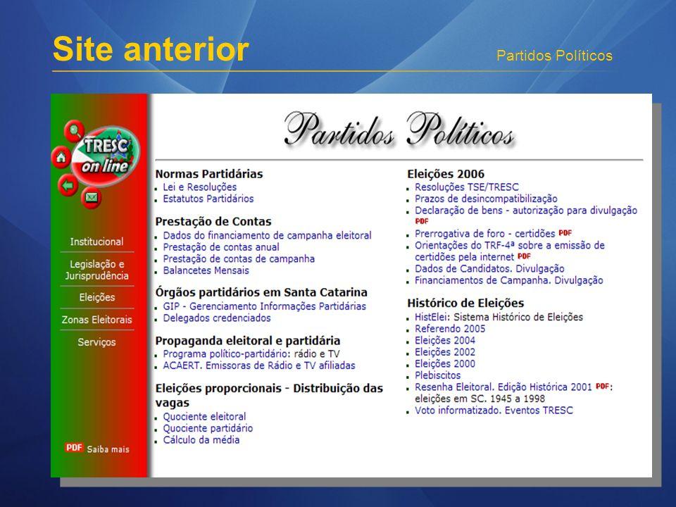 Partidos Políticos Site anterior