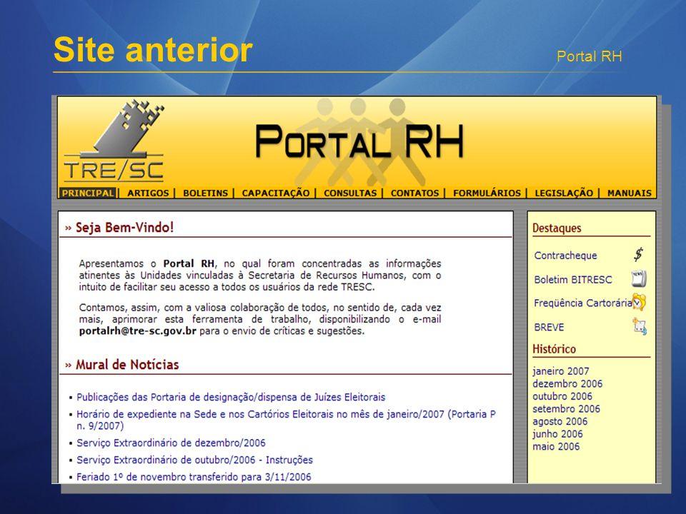 Portal RH Site anterior