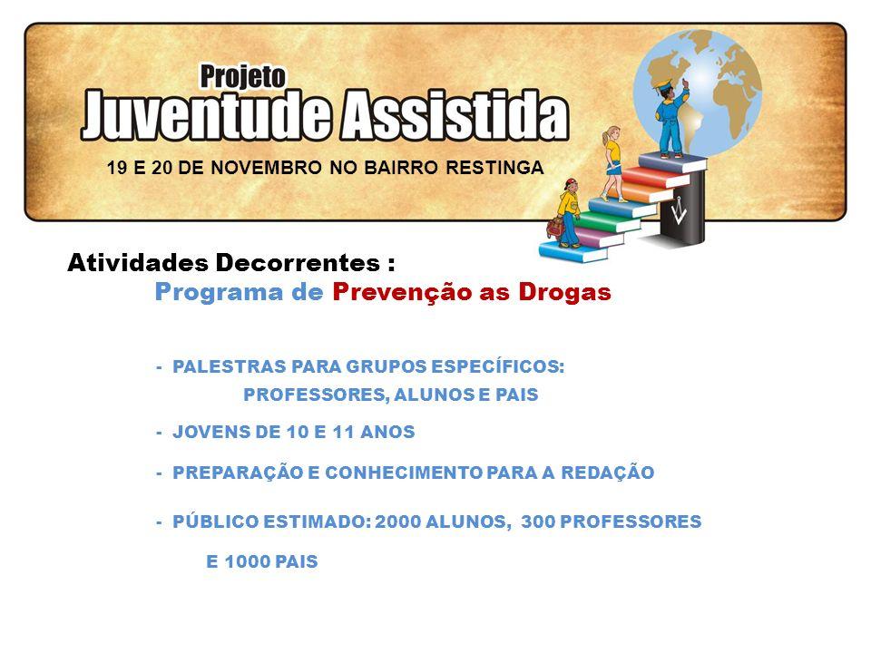 FILOSOFIA DE AÇÃO - CONFECÇÕES DE DOCUMENTOS CERTIDÕES, CPF, RG E TITULO DE ELEITOR - PRAÇA DE ALIMENTAÇÃO - CENTRAL DE INFORMAÇÕES CNH, EMPREGOS DO SINE E ESTÁGIOS DO CIEE 19 E 20 DE NOVEMBRO NO BAIRRO RESTINGA Atividades Decorrentes : Rua da Solidariedade e da Cidadania