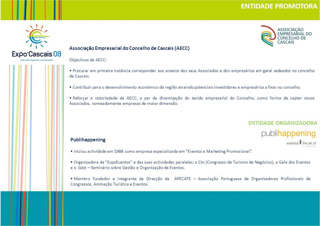 ENTIDADE PROMOTORA Associação Empresarial do Concelho de Cascais (AECC) Objectivos da AECC: Procurar em primeira instância corresponder aos anseios do