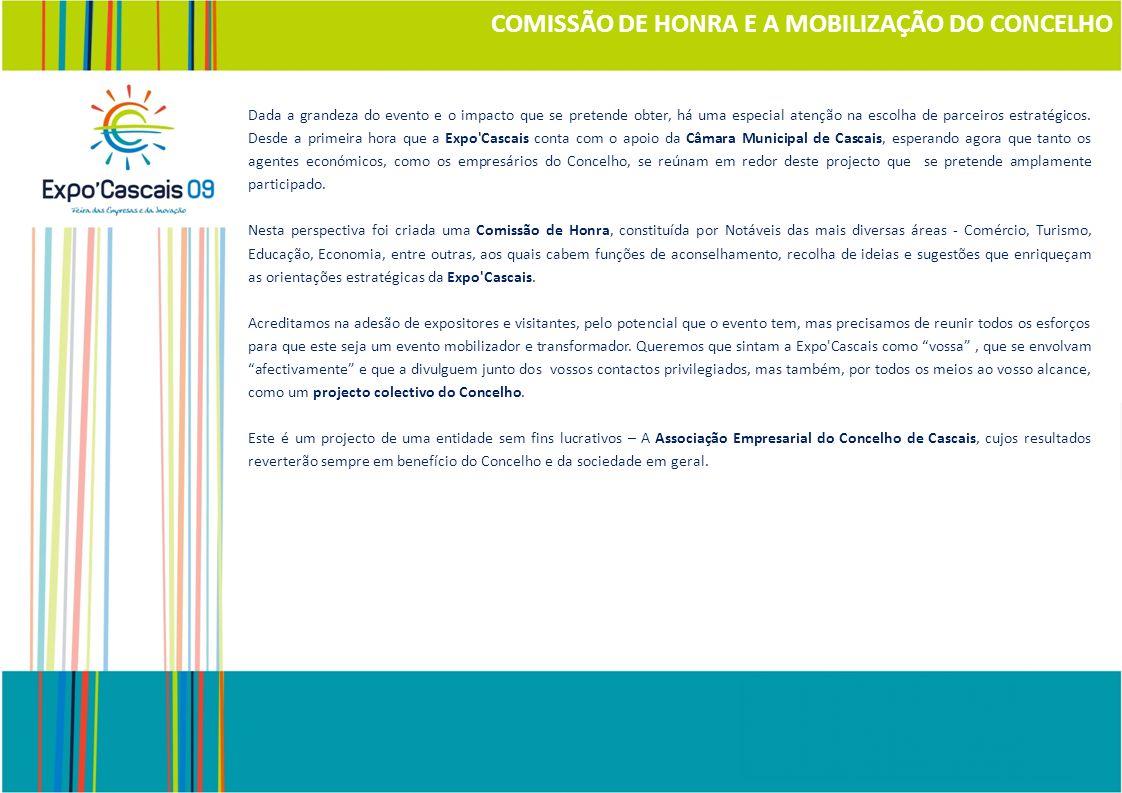 Apresentação da Expo Cascais 09 6 Abril 2009 Centro de Observação Ambiental da Ponta do Sal A Expo Cascais apresenta um potencial único de promoção.