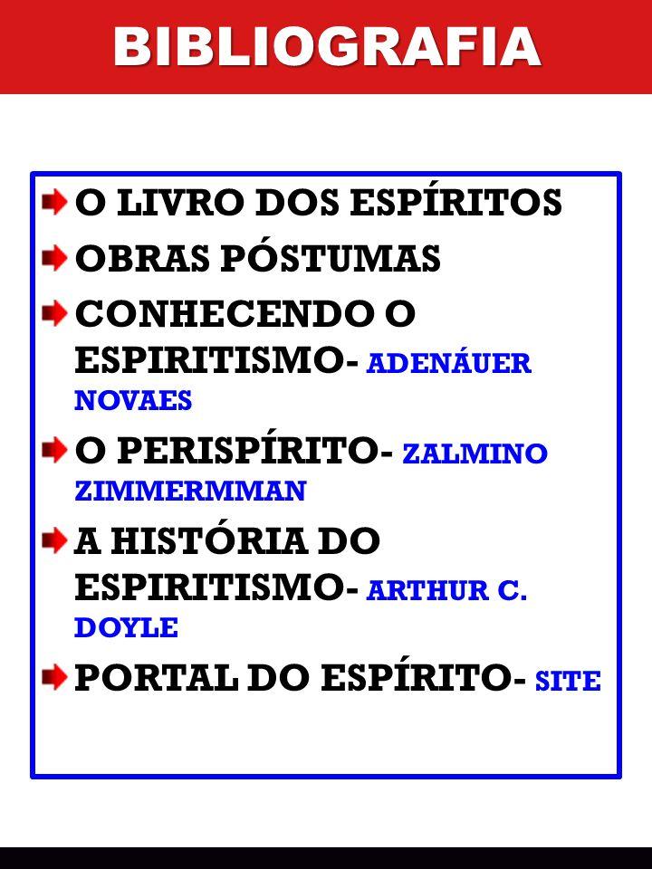 O LIVRO DOS ESPÍRITOS OBRAS PÓSTUMAS CONHECENDO O ESPIRITISMO- ADENÁUER NOVAES O PERISPÍRITO- ZALMINO ZIMMERMMAN A HISTÓRIA DO ESPIRITISMO- ARTHUR C.