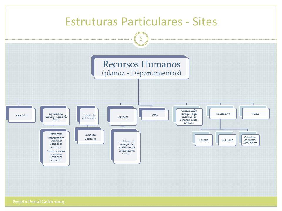 Estruturas Particulares - Sites Projeto Portal Golin 2009 6 Recursos Humanos (plano2 - Departamentos) CIPA Agendas >Telefones de emergência >Telefones
