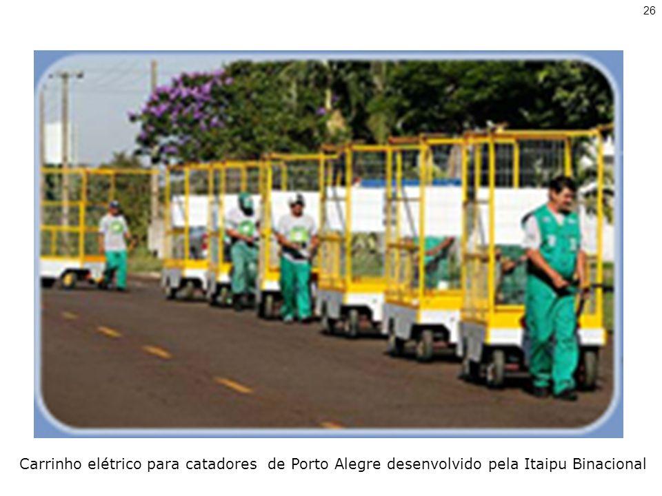 Carrinho elétrico para catadores de Porto Alegre desenvolvido pela Itaipu Binacional 26