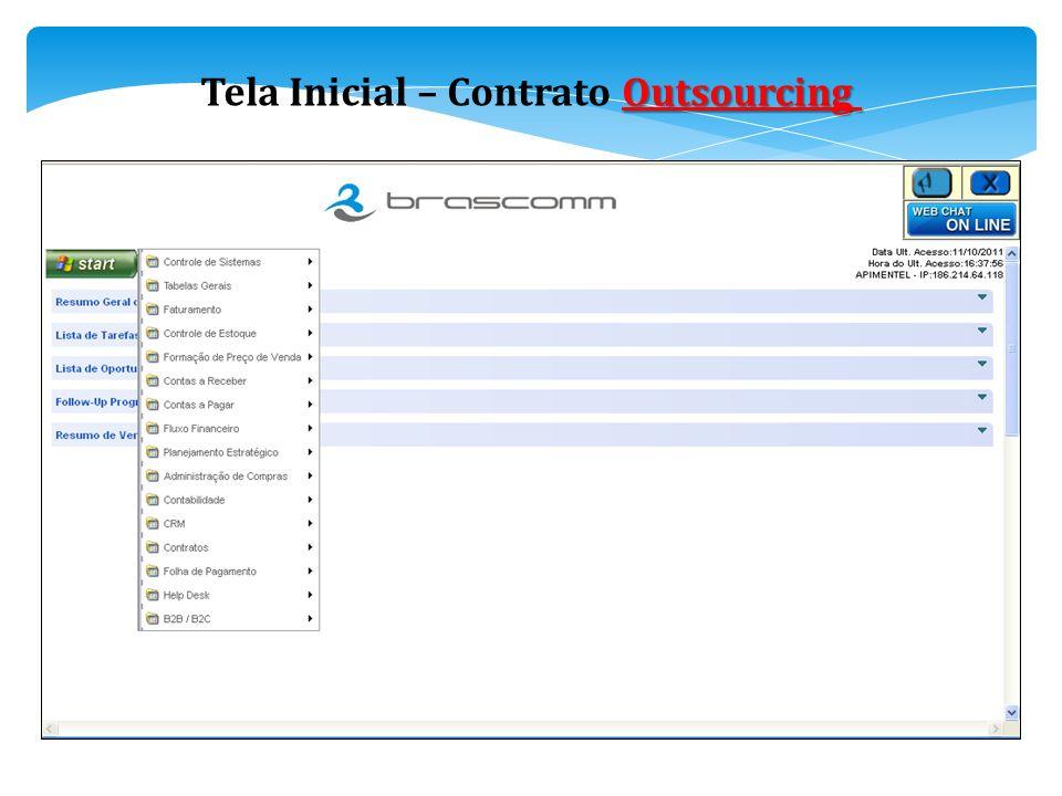 Outsourcing Tela Inicial – Contrato Outsourcing