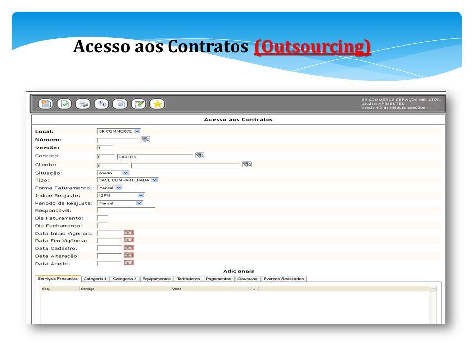 (Outsourcing) Acesso aos Contratos (Outsourcing)