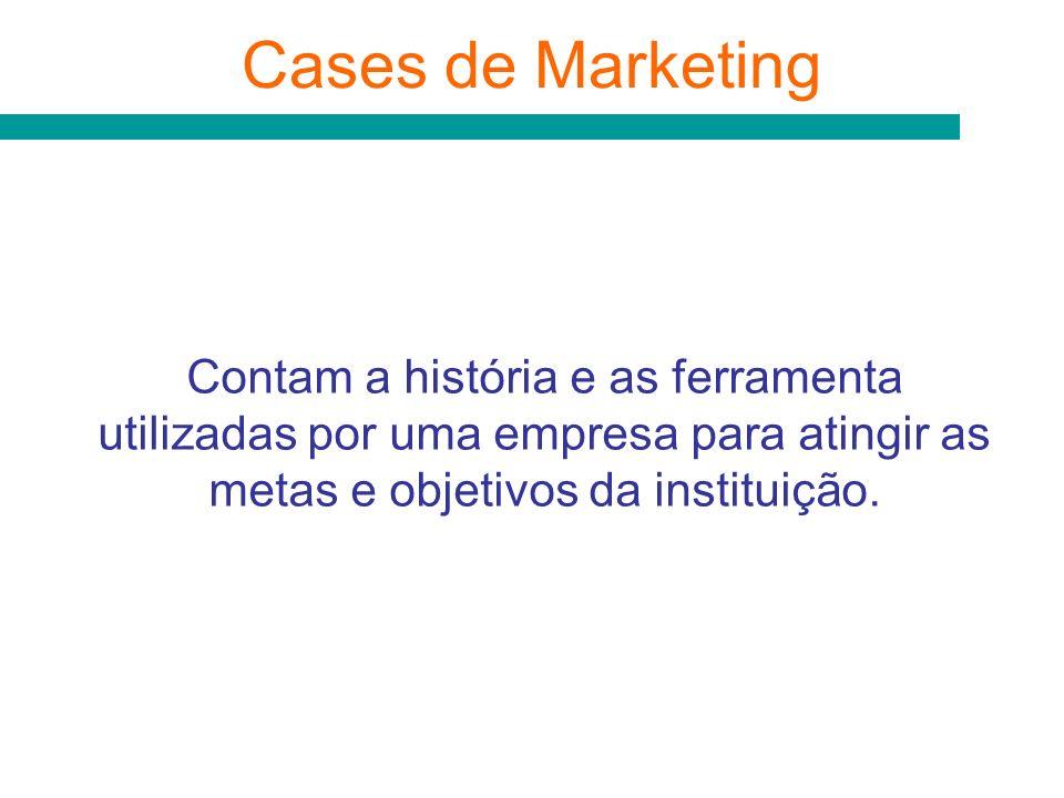 Cases de Marketing Contam a história e as ferramenta utilizadas por uma empresa para atingir as metas e objetivos da instituição.