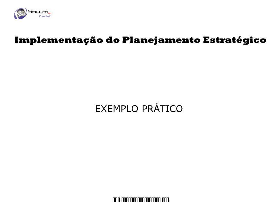www. soluticonsultoria. com EXEMPLO PRÁTICO Implementação do Planejamento Estratégico