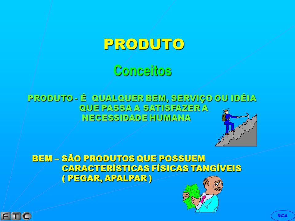 RCA ORIENTAÇÃO P/PRODUTO EMPRESA P/PRODUTO P/MERCADO COCA-COLA MATA A SEDE FAZ COMUNICAÇÃO XEROX FAZ COPIAR AUMENTA A PRODUTIVIDADE