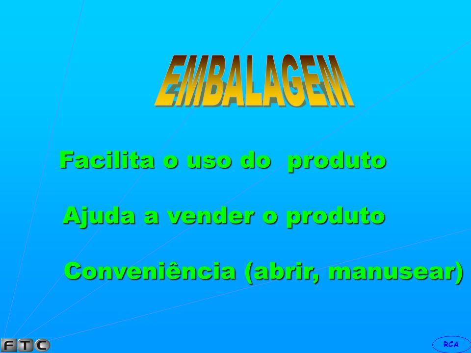 RCA Facilita o armazenamento Protege e conserva o produto Ajuda e posiciona o produto