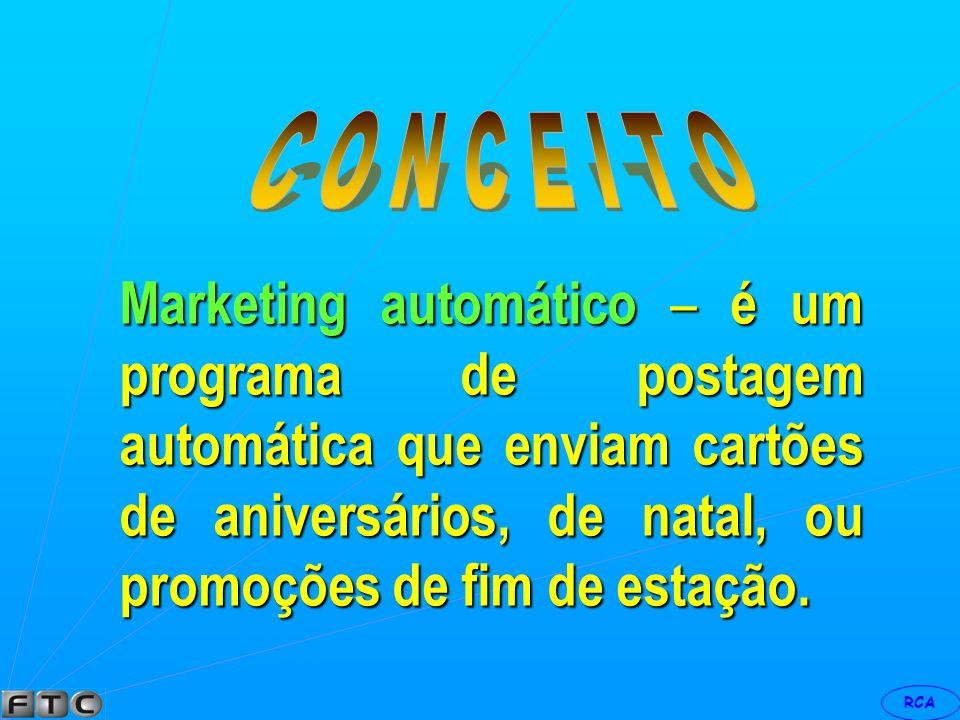 RCA Marketing básico quando o vendedor simplesmente vende o produto.