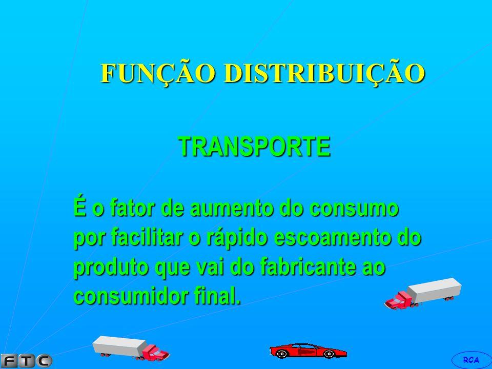 RCA FUNÇÃO DISTRIBUIÇÃO FÍSICA Estas funções estão ligadas a colocação do produto ao alcance do consumidor.