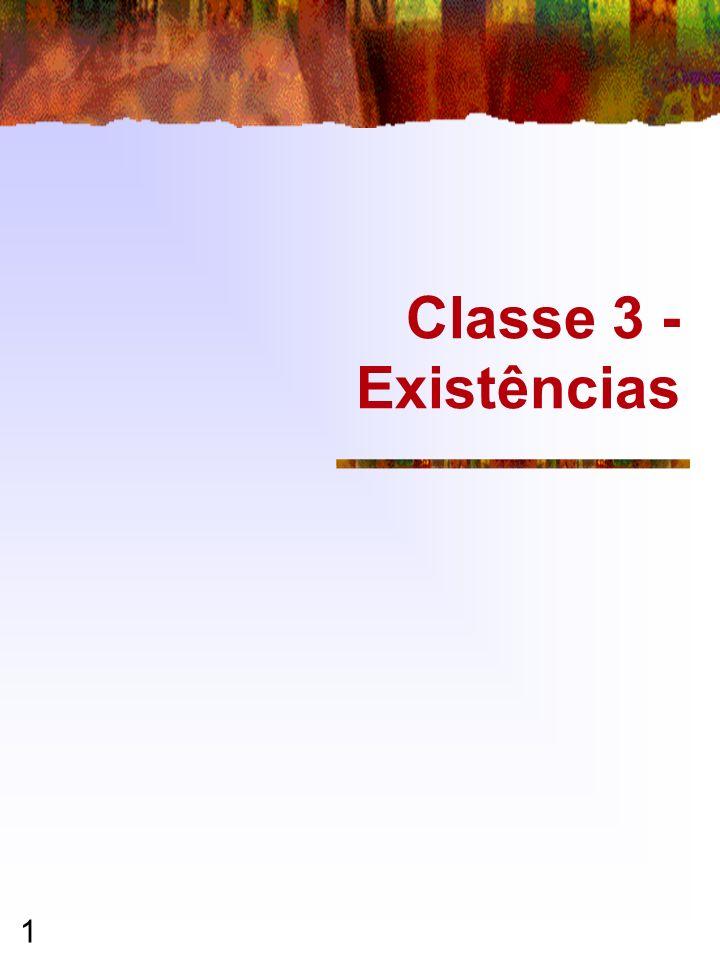 1 Classe 3 - Existências