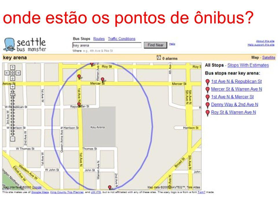 onde estão os pontos de ônibus?