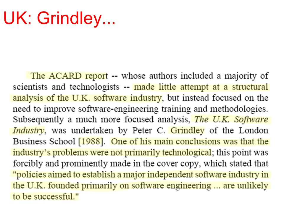 UK: Grindley...