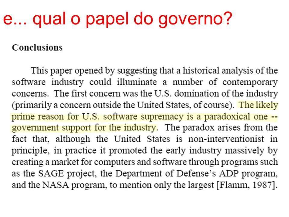 e... qual o papel do governo?