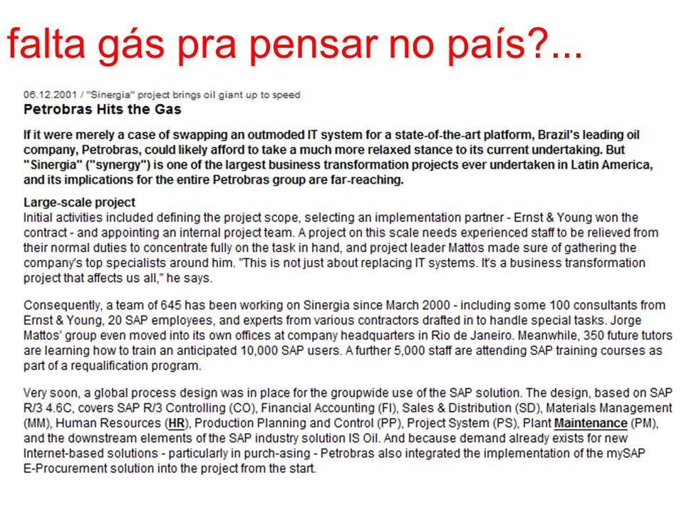 falta gás pra pensar no país?...