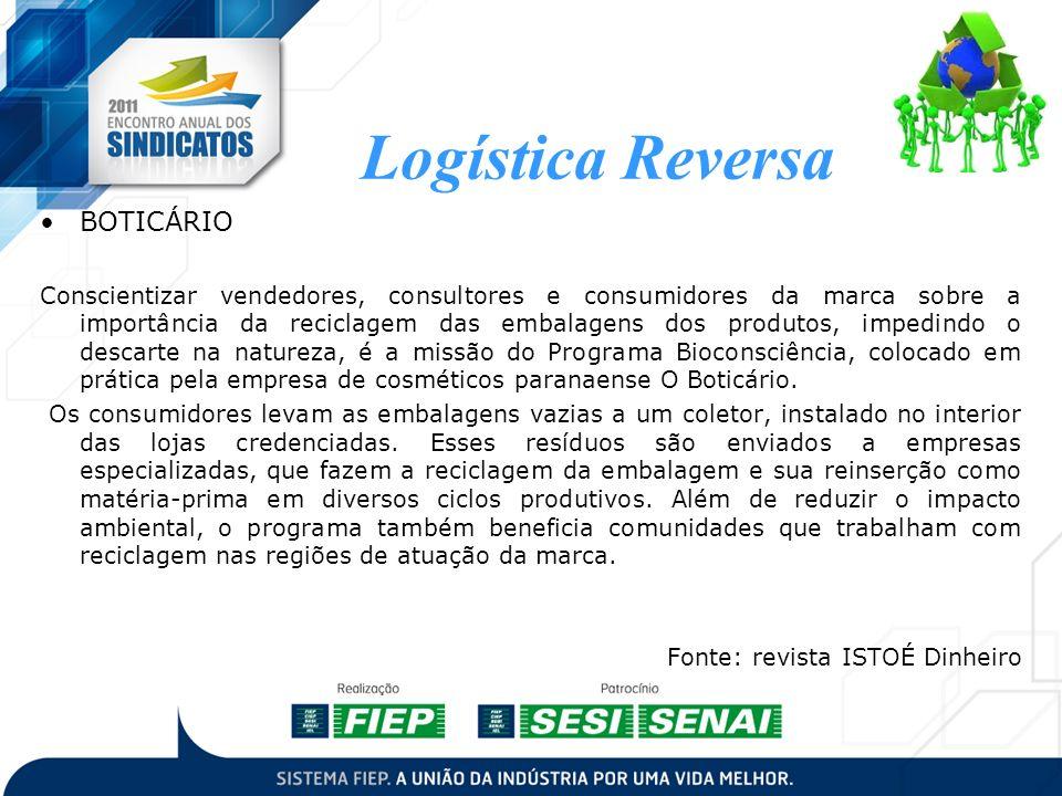 BOTICÁRIO Conscientizar vendedores, consultores e consumidores da marca sobre a importância da reciclagem das embalagens dos produtos, impedindo o des