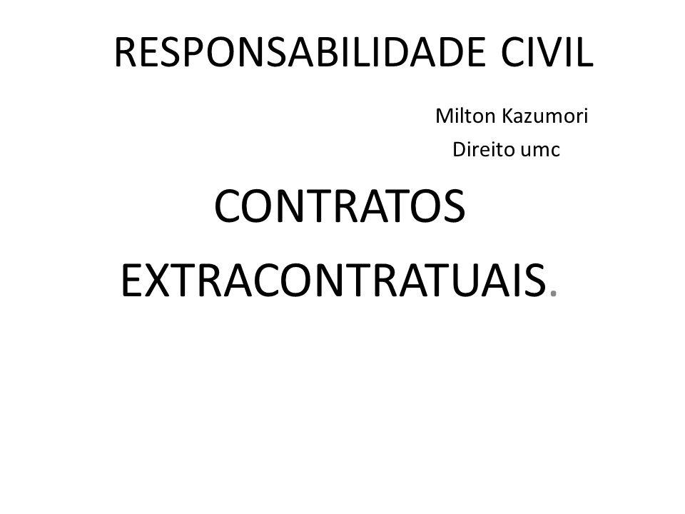 RESPONSABILIDADE CIVIL Milton Kazumori Direito umc CONTRATOS EXTRACONTRATUAIS.