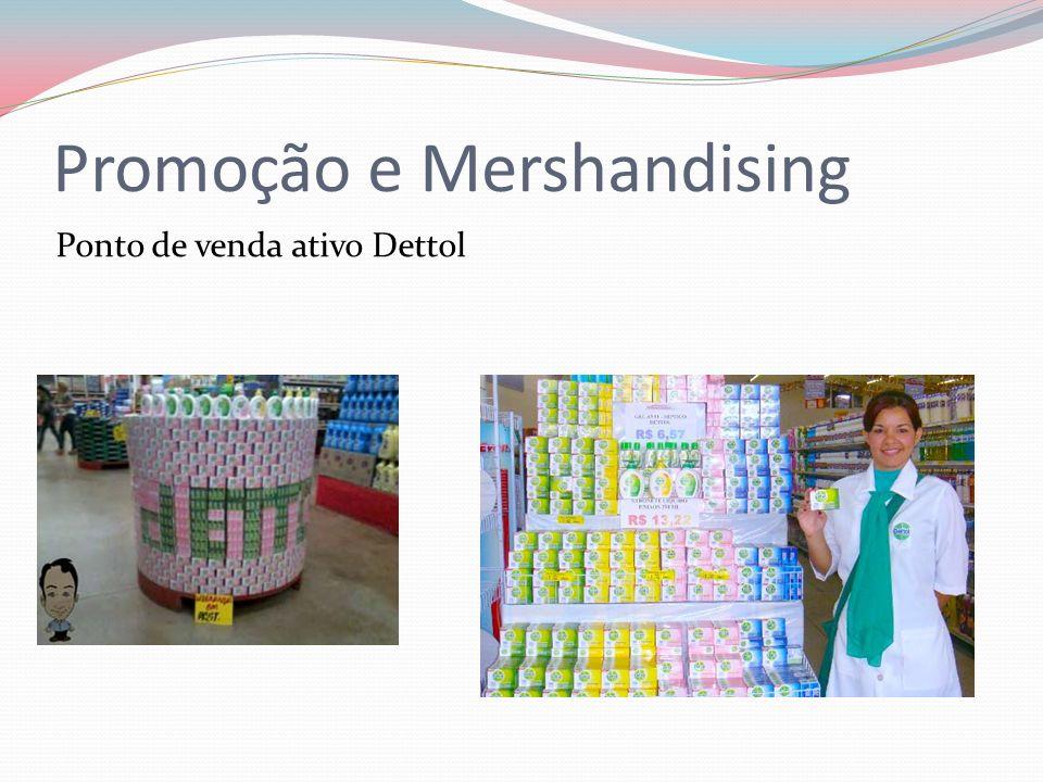 Promoção e Mershandising Ponto de venda ativo Dettol