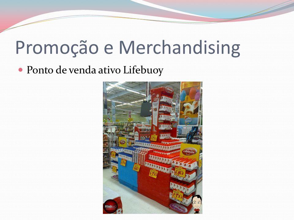 Promoção e Merchandising Ponto de venda ativo Lifebuoy