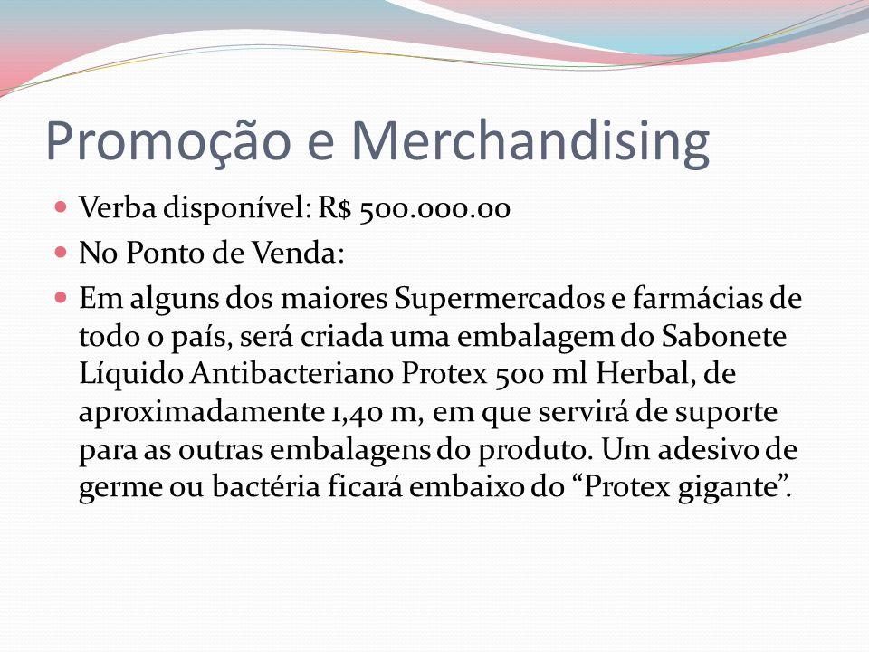 Promoção e Merchandising Verba disponível: R$ 500.000.00 No Ponto de Venda: Em alguns dos maiores Supermercados e farmácias de todo o país, será criad