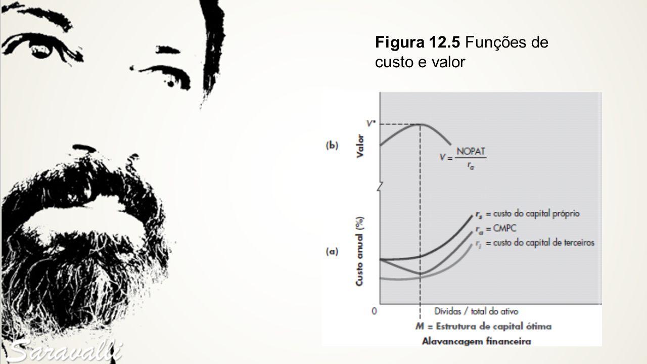 Figura 12.5 Funções de custo e valor