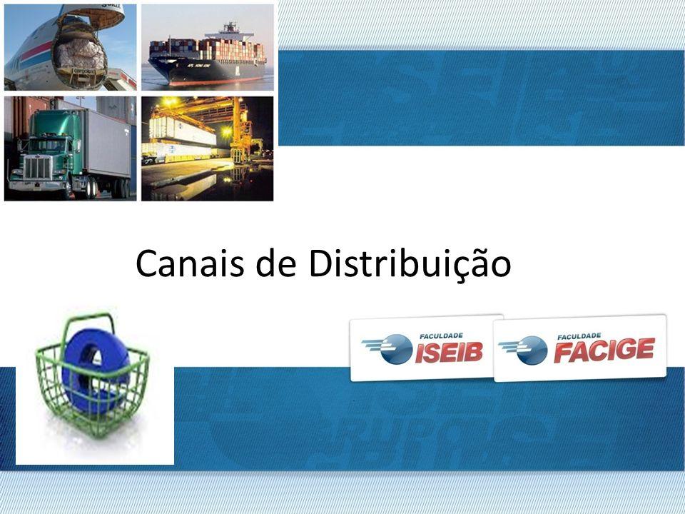 Indústria Química Canal 1 – Indústria alimentícias Garantia Normal Canal 2 – Indústria FarmacêuticaGarantia Explícita CANAIS DE DISTRIBUIÇÃO