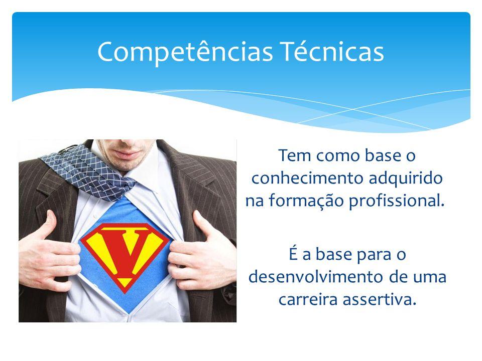 Competências Técnicas Tem como base o conhecimento adquirido na formação profissional.