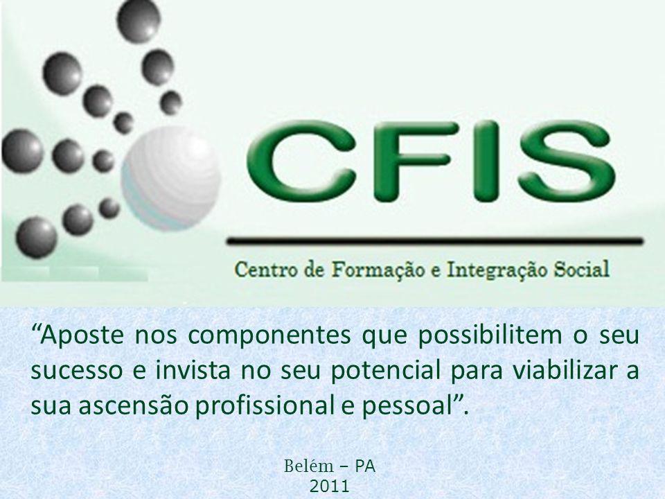 MARKETING PESSOAL Belém – PA 2011 Aposte nos componentes que possibilitem o seu sucesso e invista no seu potencial para viabilizar a sua ascensão prof