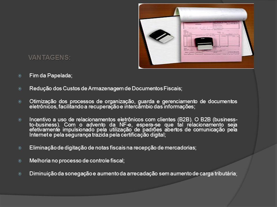 NOTA FISCAL ELETRÔNICA A Nota Fiscal Eletrônica é um documento de existência apenas digital, emitido e armazenado eletronicamente, com o intuito de do