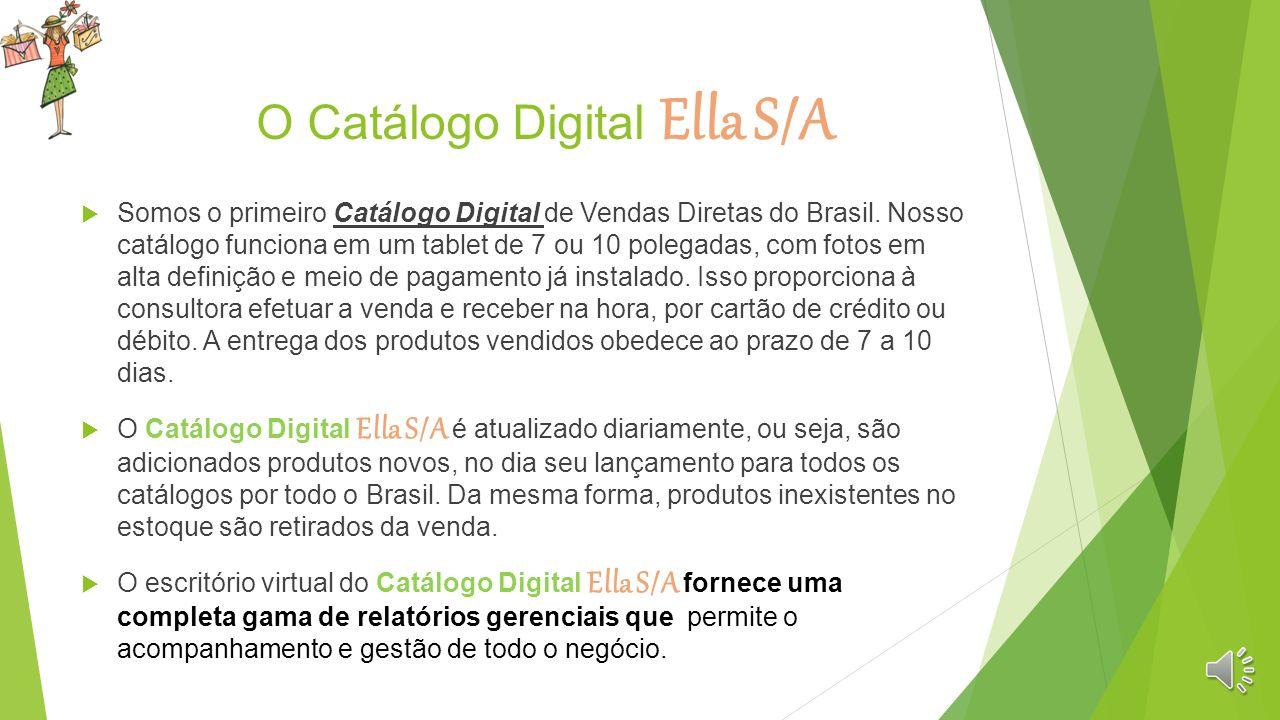 Quem somos? O Catálogo Digital Ella S/A é um produto criado e desenvolvido pela Projetandoo, uma empresa de tecnologia, desenvolvedora de sistemas e s