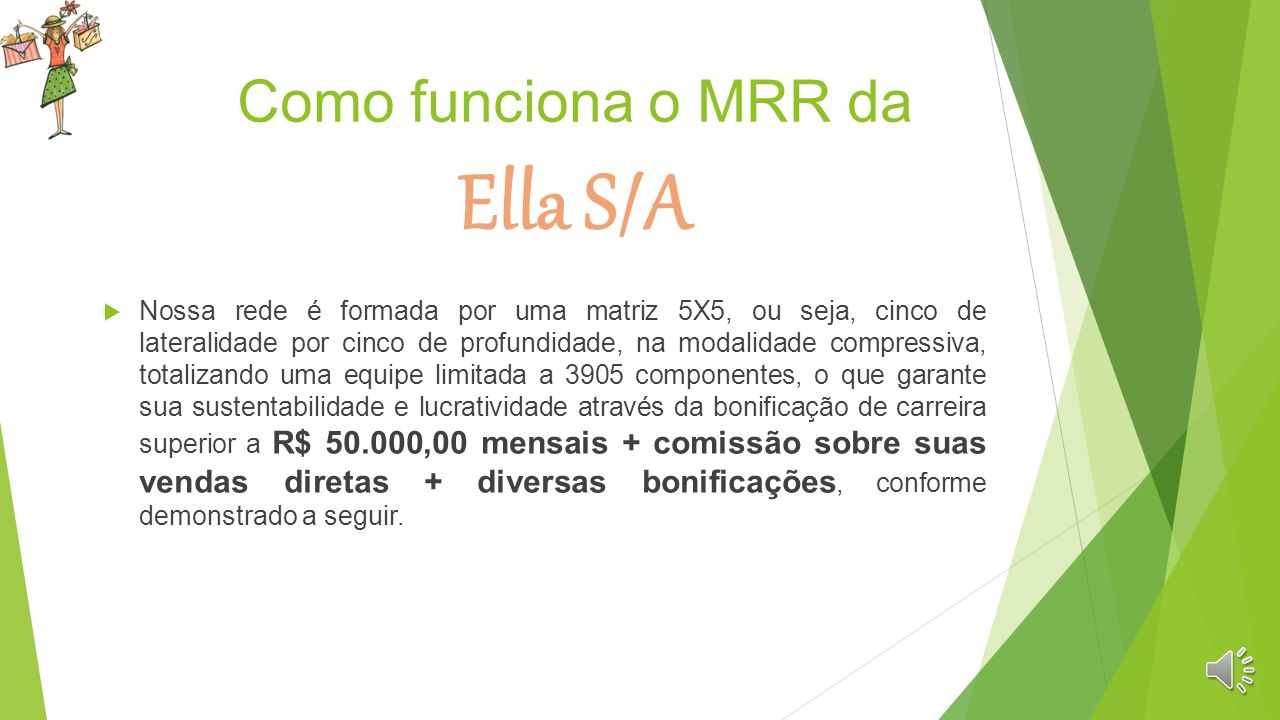 Plano de Negócios (MRR Ella S/A ) O que é Marketing de Rede de Relacionamento Ella S/A? Uma Oportunidade de Trabalho diferenciada na sua remuneração,