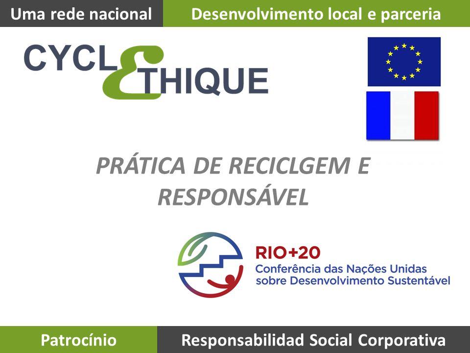 Uma rede nacionalDesenvolvimento local e parceria PatrocínioResponsabilidad Social Corporativa PRÁTICA DE RECICLGEM E RESPONSÁVEL
